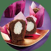 Muffins gefüllt mit weißer Creme