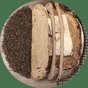 Brot aus dunklem Malz
