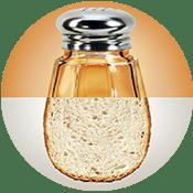 Salzstreuer und Brot