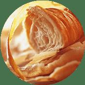 Aufgeschnittenes Croissant
