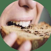 Abbeißen Brot